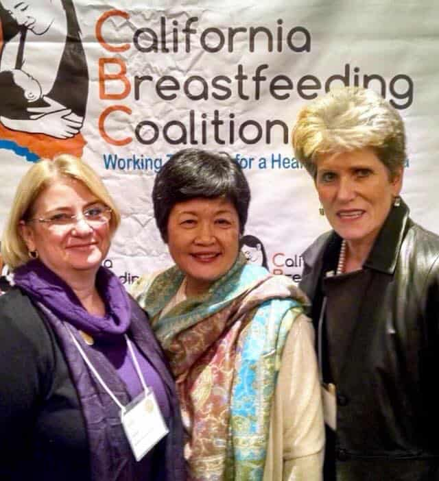 California Breastfeeding Coalition Summit in San Diego. Sharing a moment with Gini Baker, Summit Planning Committee Chair, and Pauline Sakamoto, Executive Director at Mother's Milk Bank San Jose, CA