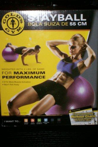 Gold's Gym 55 cm Stay Ball - Knowmor Inc.